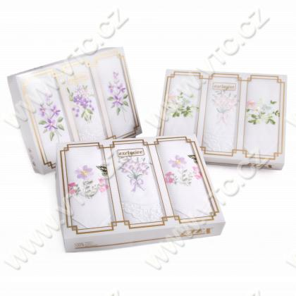Ladies handkerchief-3 pcs,embr