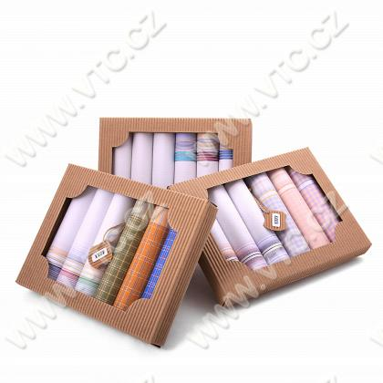 Ladies handkerchief color - 6pcs/box