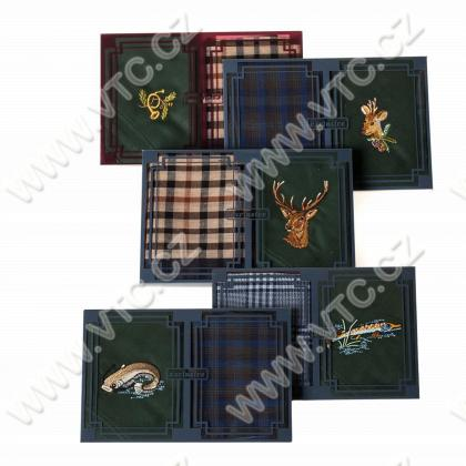 Mens handkerchief, box 2 pcs