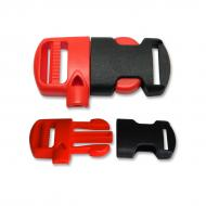 Clip buckle 20 mm with whistle