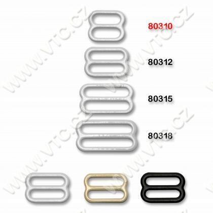 Bra buckle 10 mm metalic
