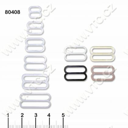 Bra buckle 8 mm plastic