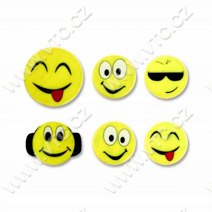 Reflective stickers - Smiley 6pcs