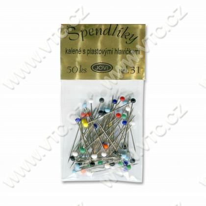 Straight pins plastic head 50 pcs