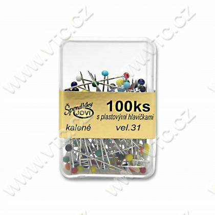 Pins plastic box 100 pcs