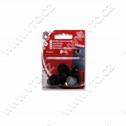 Jeans buttons FOREVER 7 black nickel - card