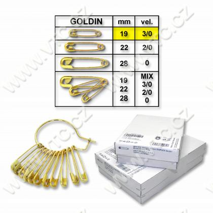 Safety pins GOLDIN No.3/0
