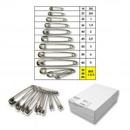 Safety pins No.1-3 nickel