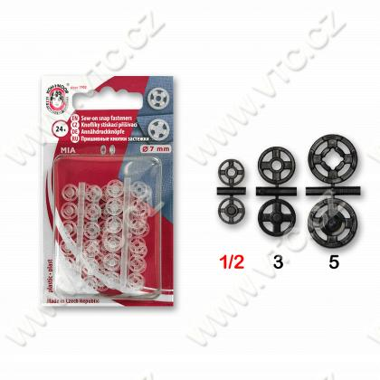 Snap fasteners MIA 1/2 transparent