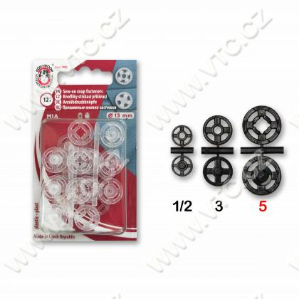 Snap fasteners MIA 5 transparent