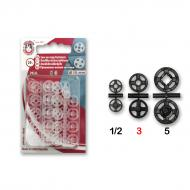 Snap fasteners MIA 3 transparent