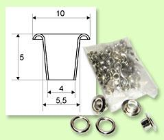 Eyelets LORD 5 mm - 100 pcs