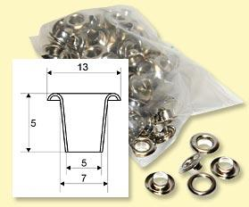 Eyelets LORD 7 mm - 100 pcs