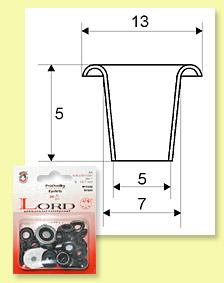 Eyelets LORD 7 mm - card