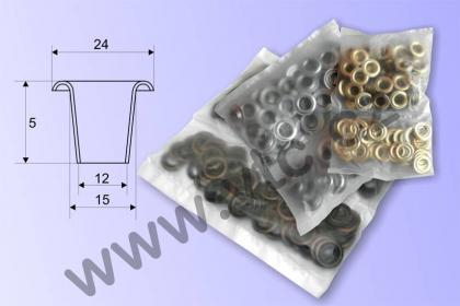 Eyelets LORD 12 mm 100 pcs