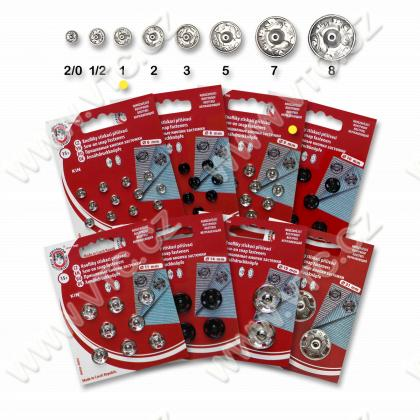 Snap fasteners KIN 1 nickel