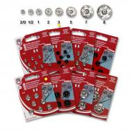 Snap fasteners KIN 3 nickel