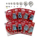 Snap fasteners KIN 2/0 nickel