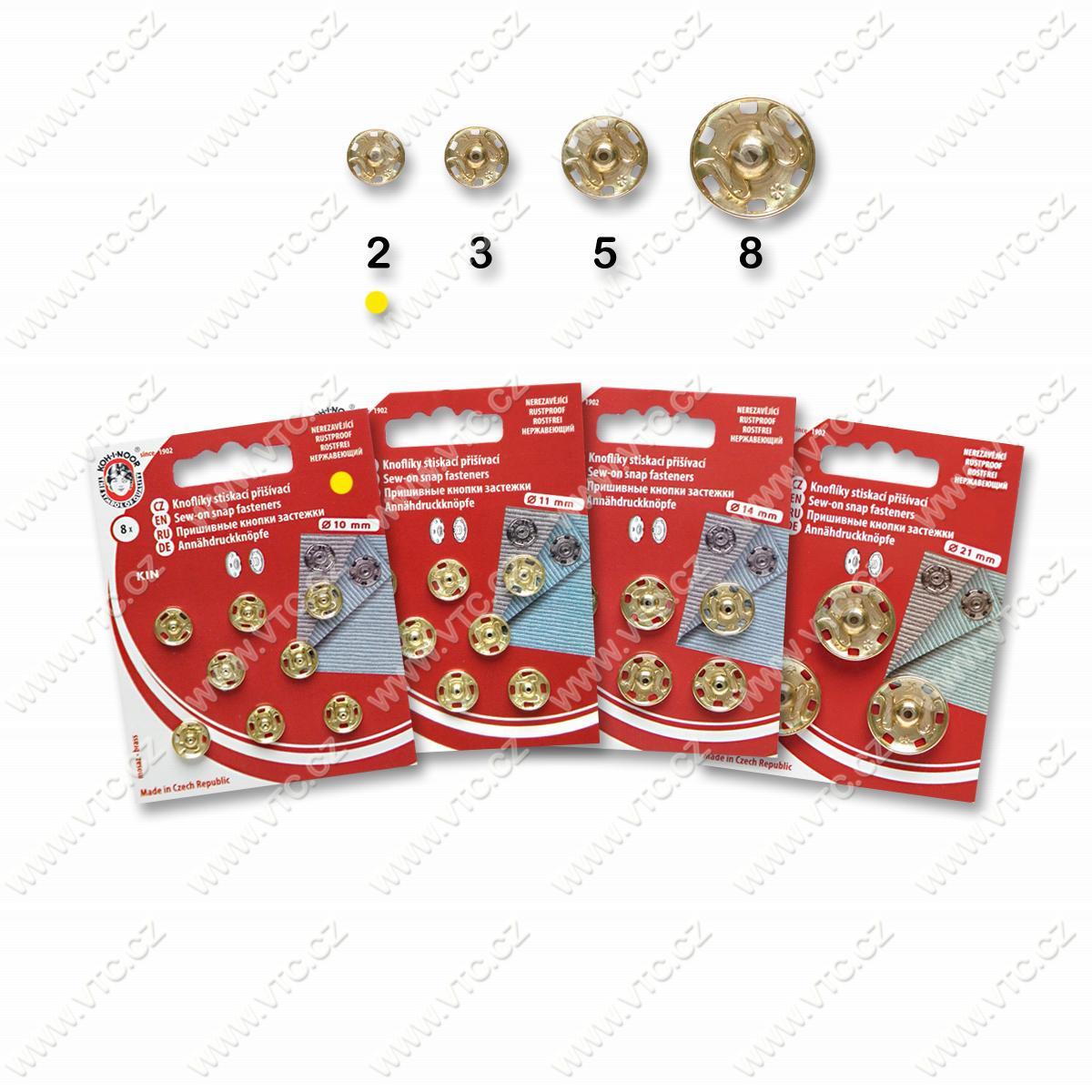 Snap fasteners KIN 2 brass   VTC JSC