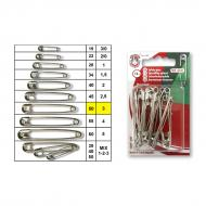 Safety pins No.3 nickel - card