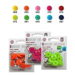 Buttons DRESSKING 10 pcs colors - blister