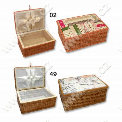 Sewing box - wicker, fabric