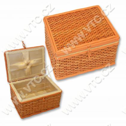 Sewing box - wicker,rectangle