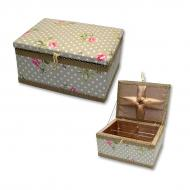 Sewing box - rectangle, fabric