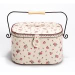 Sewing basket L Country Rose