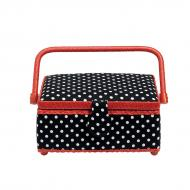 Sewing basket S Polka